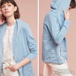 NWT | Anthropologie Woven Anorak Hoodie